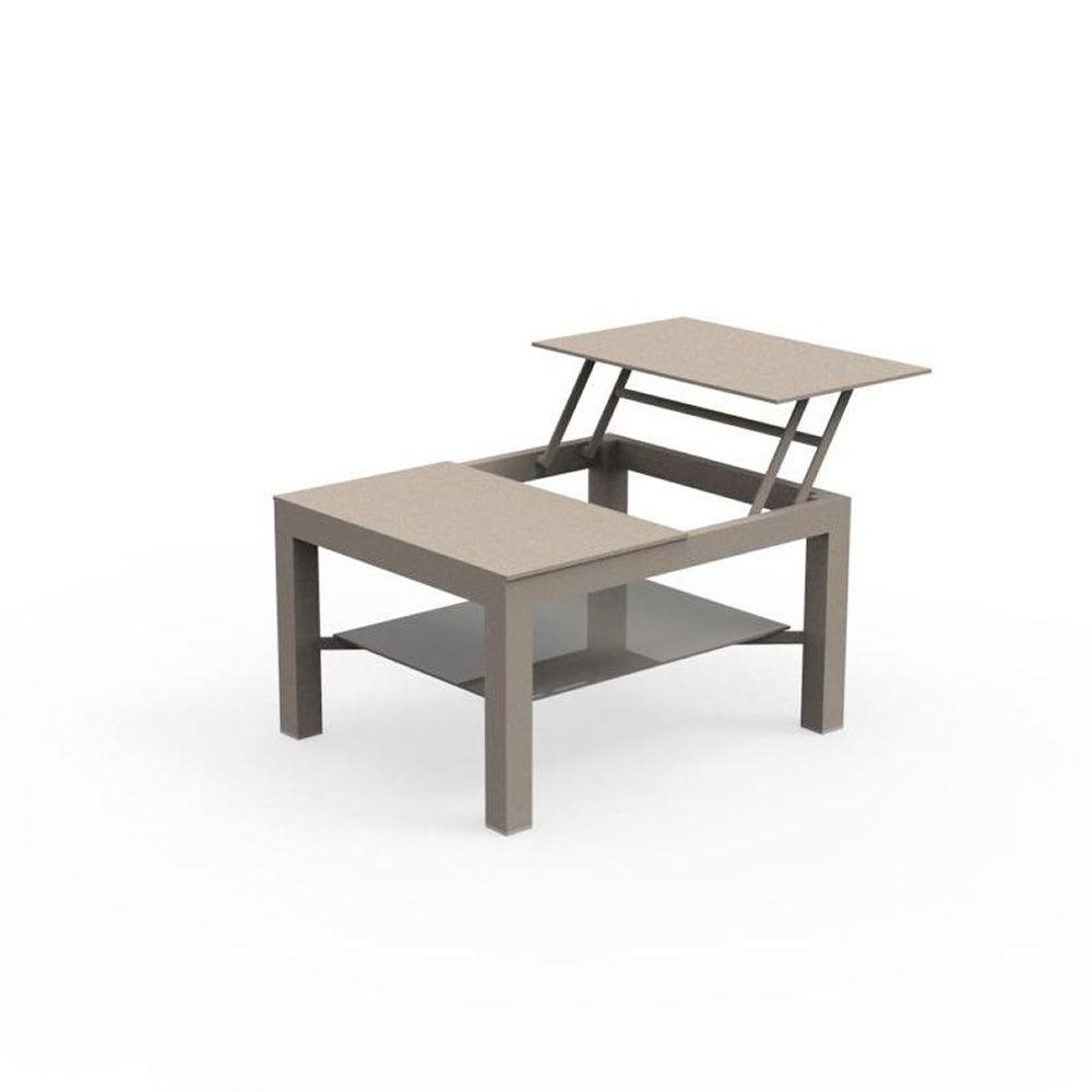 Chic T Table Basse En Aluminium Pour Jardin Disponible
