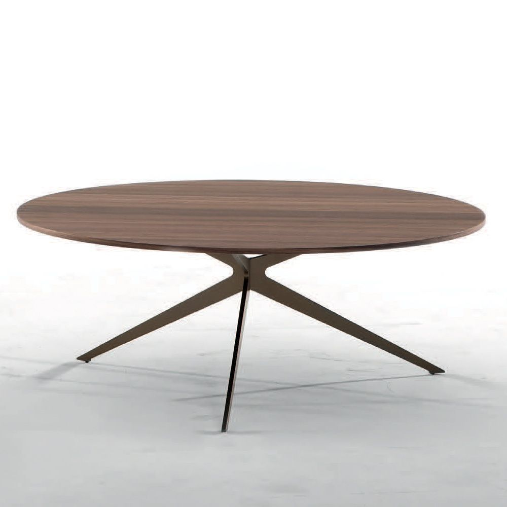 Genial ... Tree 6299   Coffee Table With Stone Bronze Varnished Metal Frame And  Veneered Wooden Top,