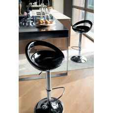Arizona 44.47 Off - Swivel and height-adjustable stool, in metal and technopolymer
