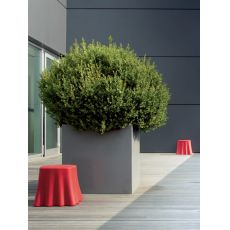 Casper - Domitalia pouf - side table in polyethylene, different colours available, also for outdoor