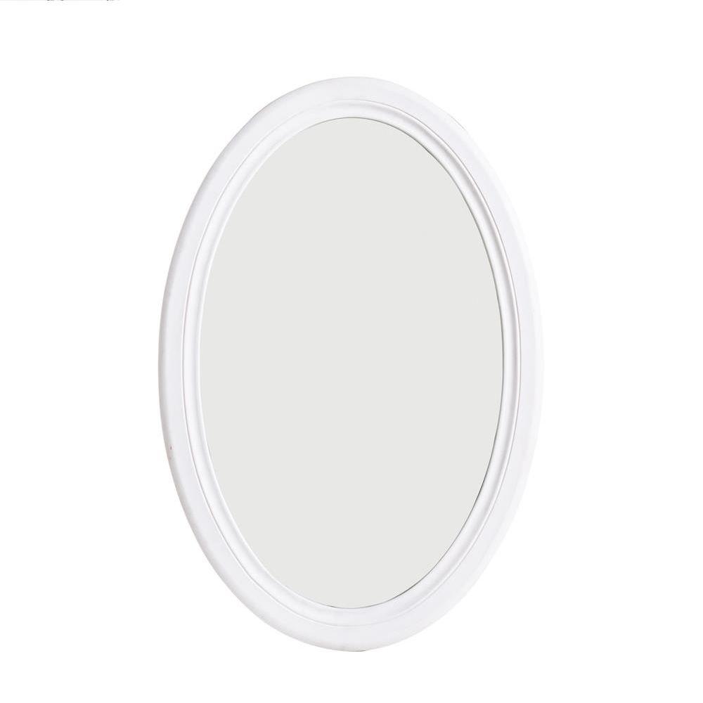 Margherita ov specchio shabby chic in legno ovale 48x70 - Specchio ovale shabby chic ...