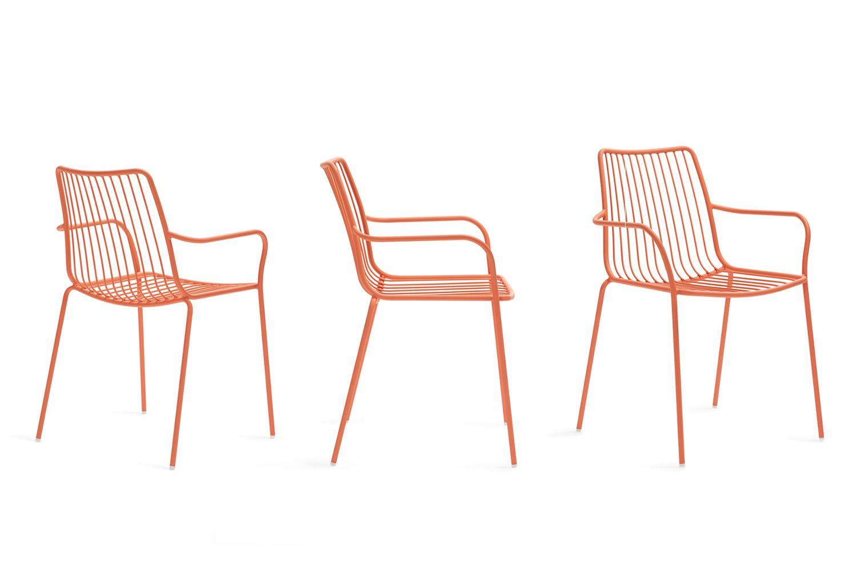 nolita p stuhl pedrali mit armlehnen aus metall. Black Bedroom Furniture Sets. Home Design Ideas