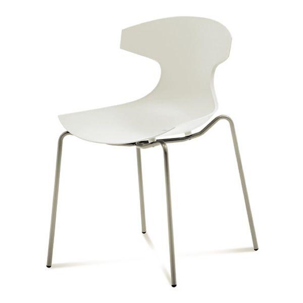 Echo outdoor chaise empilable domitalia en m tal et en for Chaise domitalia