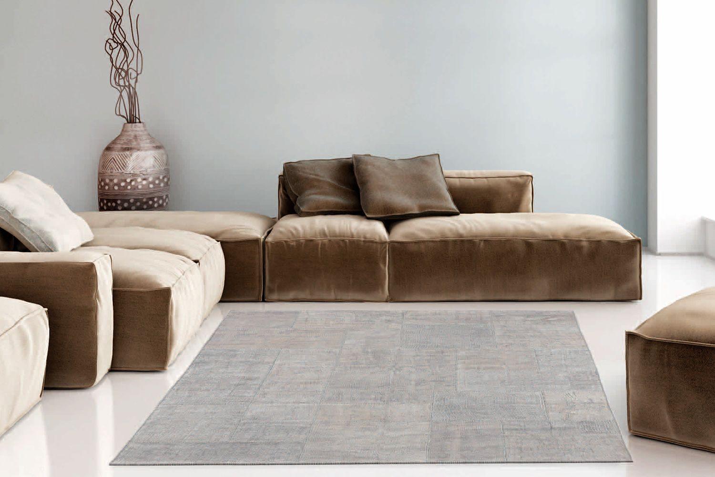 Milano tappeto design in canapa diverse misure sediarreda - Tappeto grigio chiaro ...