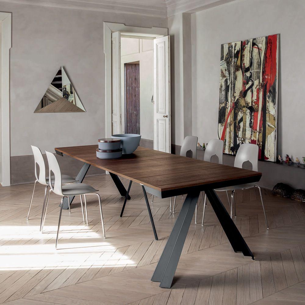 Ventaglio c 6509 tavolo consolle allungabile tonin for Consolle tavolo