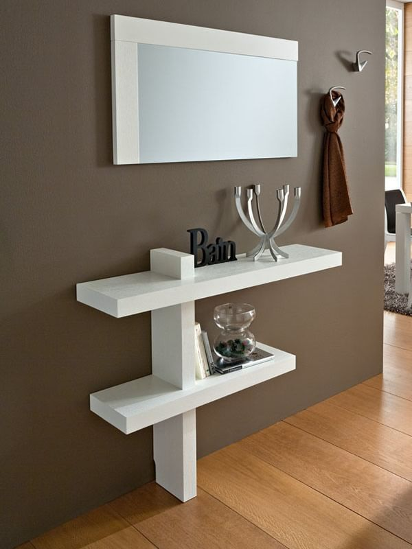 Pa240 meuble entr e avec miroir et crochets disponible for Meuble mural couloir