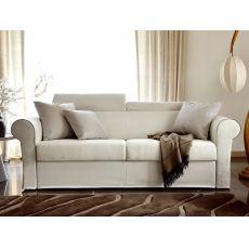 Asia - Divano letto classico a 2 o 3 posti maxi, con poggiatesta reclinabile