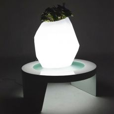 Secret - Slide polyethylene vase, different colours, also with light system and for garden