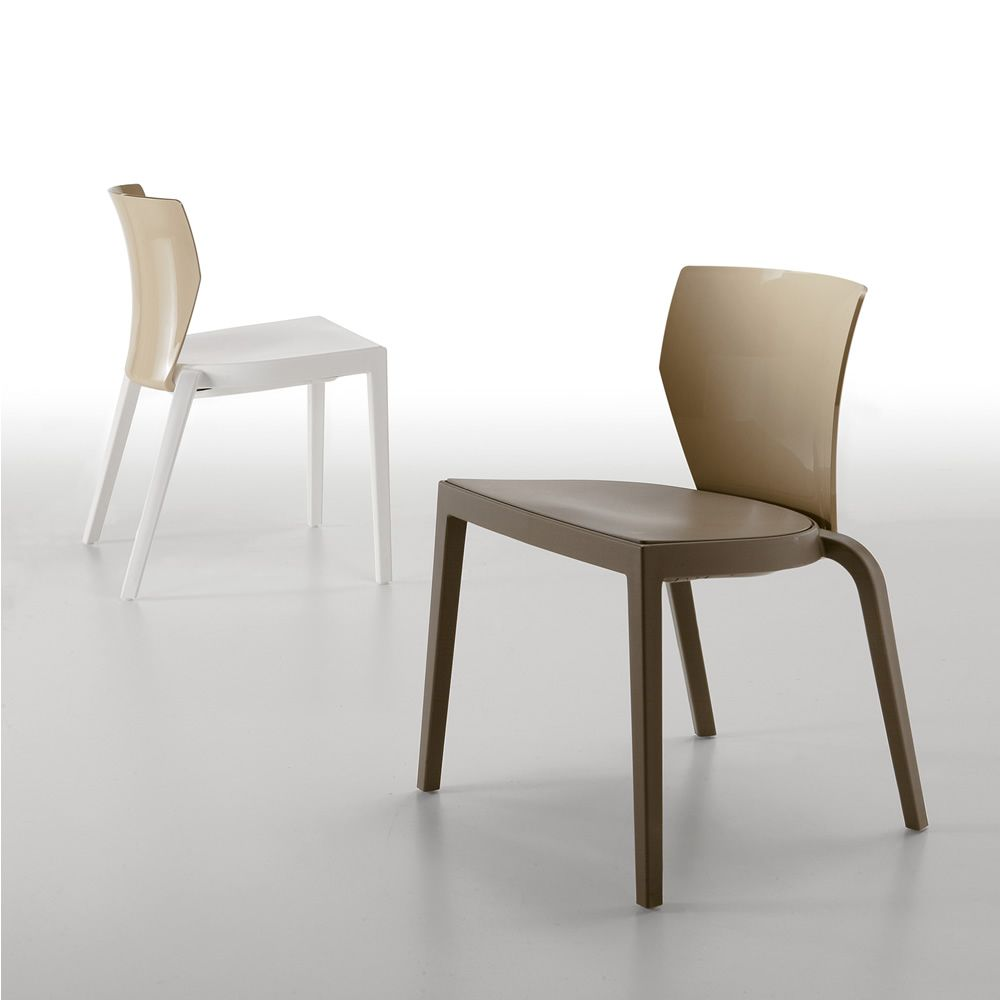 Bi per bar e ristoranti sedia impilabile in for Sedie design policarbonato