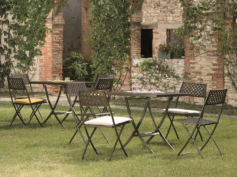 Rig73 tavolo in metallo pieghevole diverse misure per for Tavolo metallo giardino