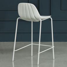 Babah SG - Sgabello Chairs&More, in metallo e poliuretano, disponibile in diversi colori e altezze di seduta
