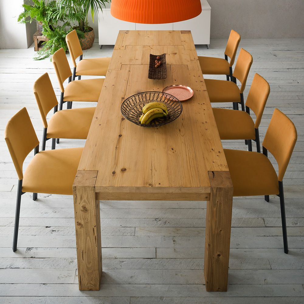 Arcadio tavolo moderno in legno fisso o allungabile for Tavolo in legno moderno