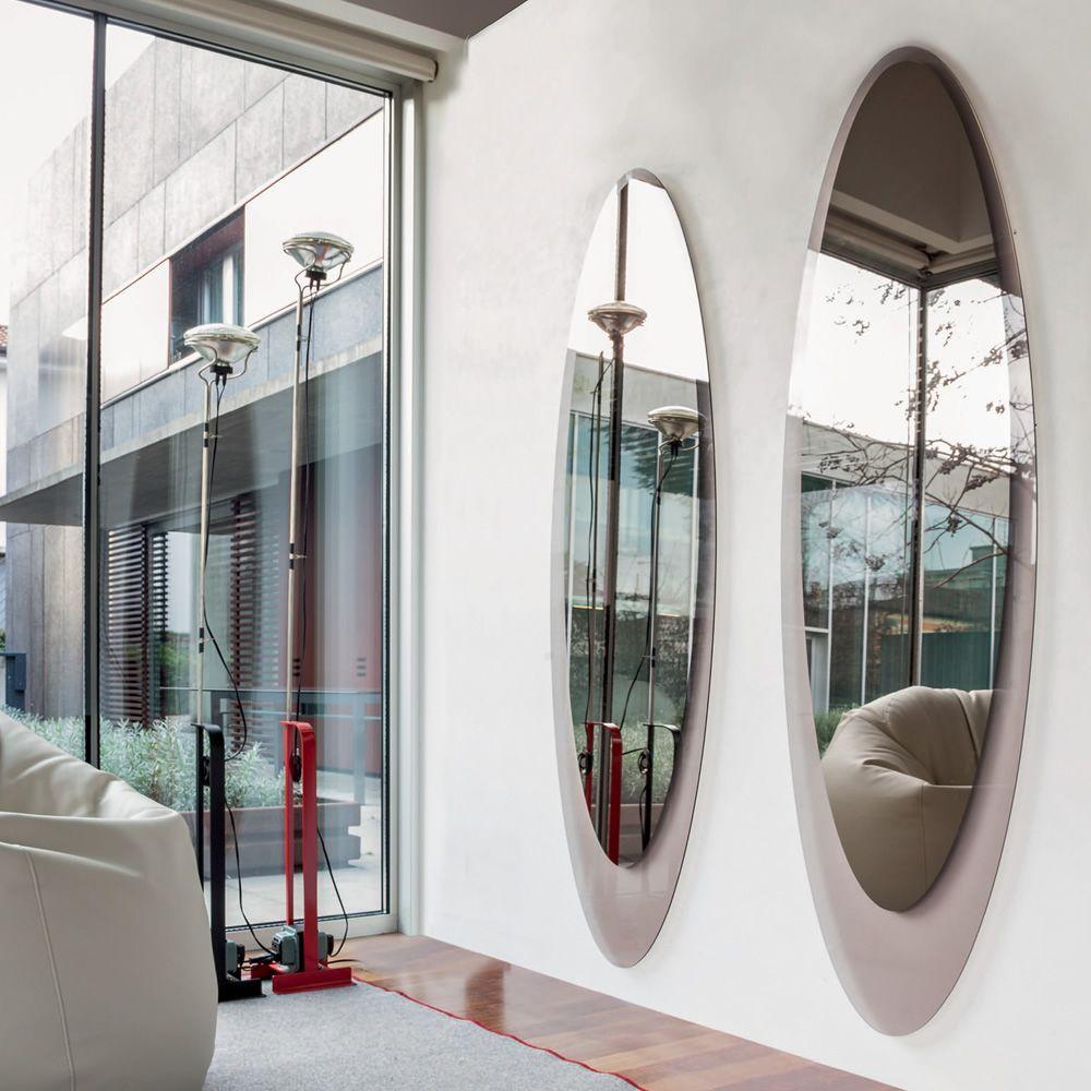 Olmi 7507 - Elliptischer Spiegel Tonin Casa mit Rahmen aus Glas ...