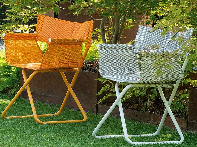 snooze r chaise r alisateur emu en m tal et filet pliable pour jardin sediarreda. Black Bedroom Furniture Sets. Home Design Ideas