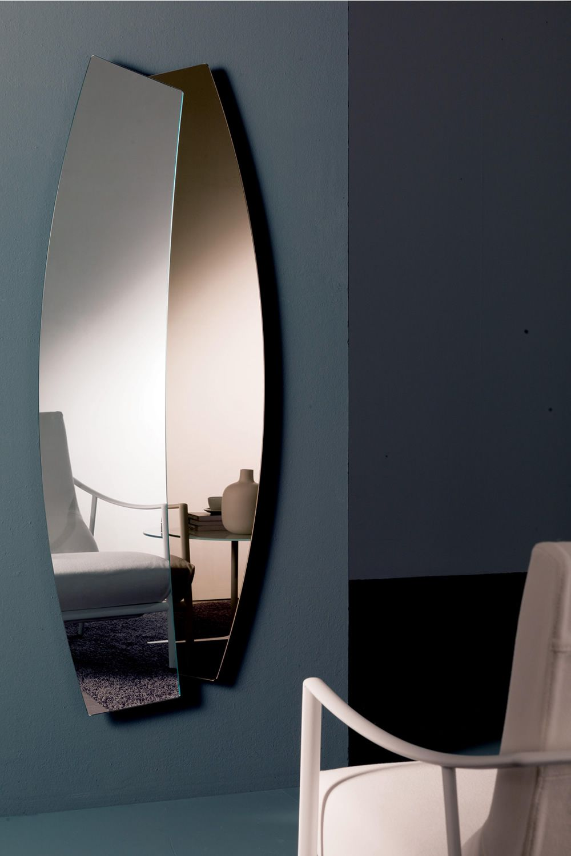 double specchio bontempi casa sagomato bicolore
