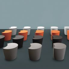 Apple - Pouf in polietilene anche per esterno, disponibile in diversi colori