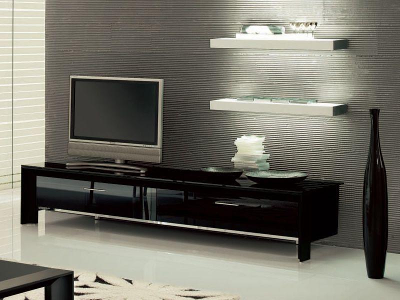 Miami 6205: TV-Möbel Tonin Casa aus Aluminium und Glas, mit 2 Türen ...