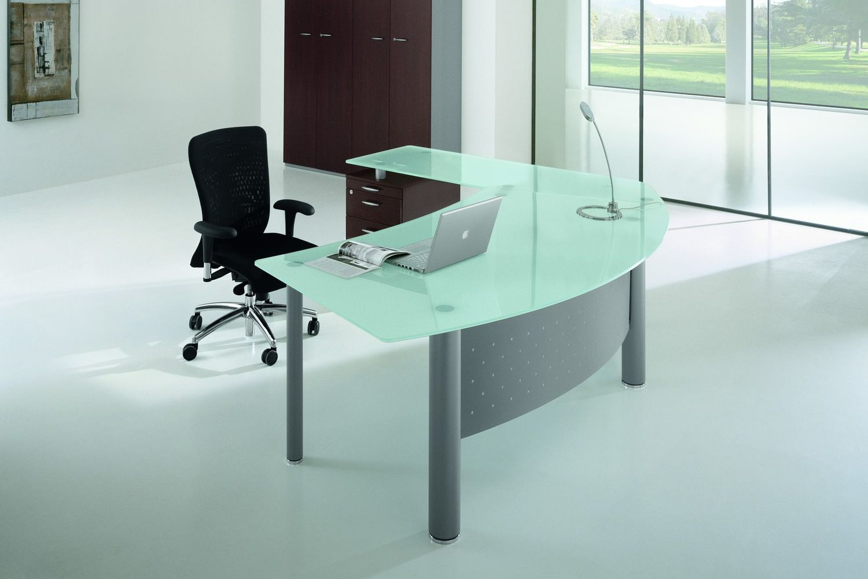 Scrivania Ufficio Sagomata : X time work scrivania da ufficio con penisola e cassettiera