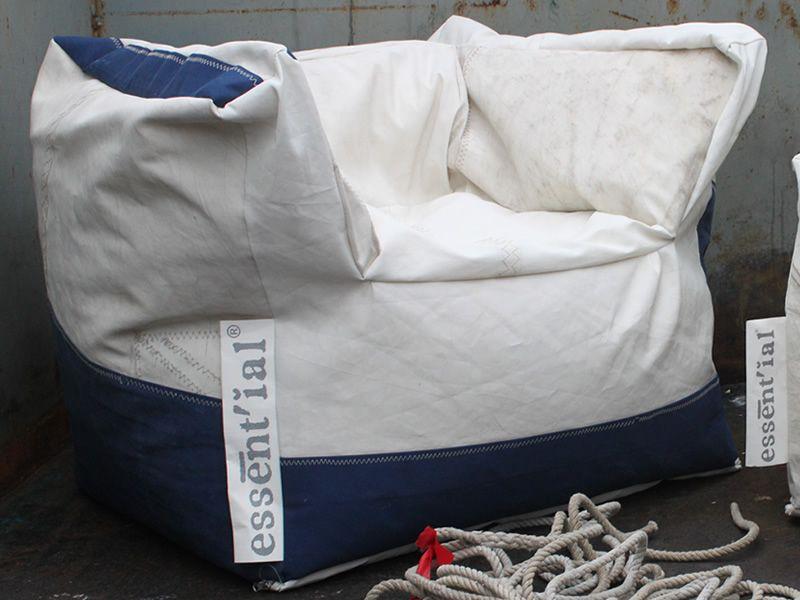 vela poltrona - eco poltrona design realizzata con vele riciclate ... - Mobile Ingresso Vela