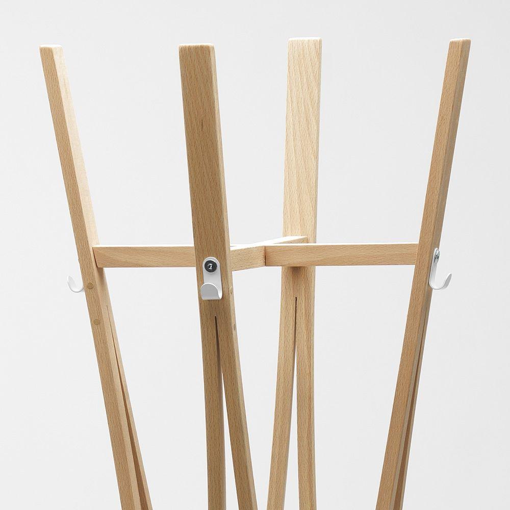 Tra - Appendiabiti in legno, diversi colori disponibili - Sediarreda