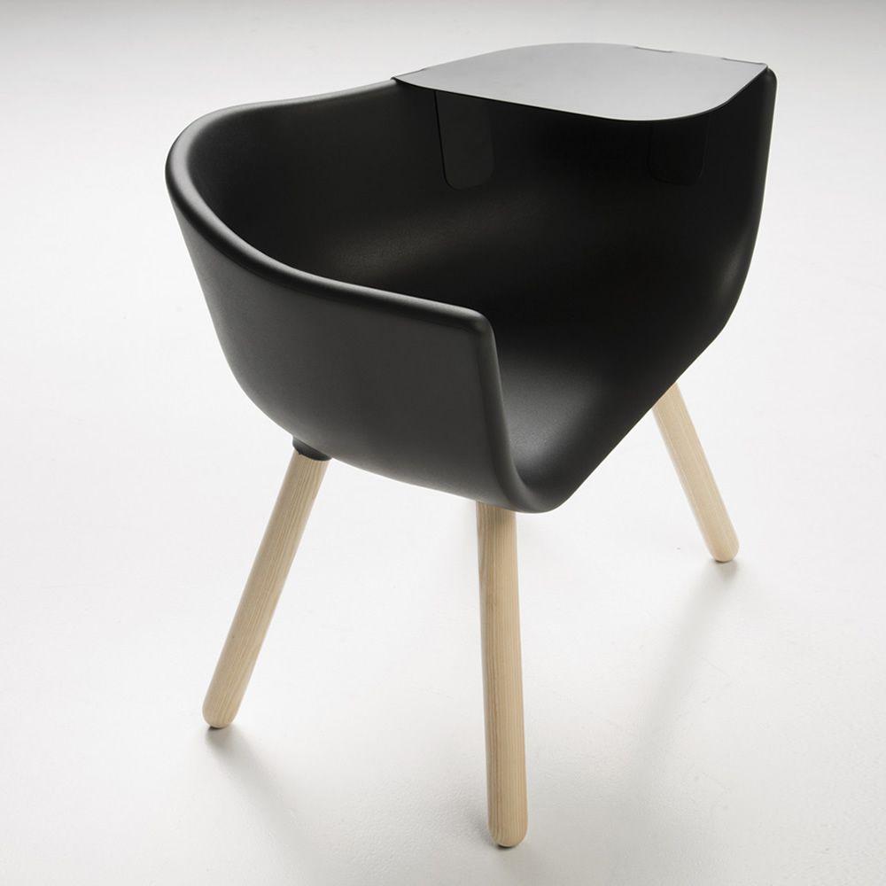 tulip large poltroncina di design chairs more in legno e poliuretano disponibile in diversi. Black Bedroom Furniture Sets. Home Design Ideas