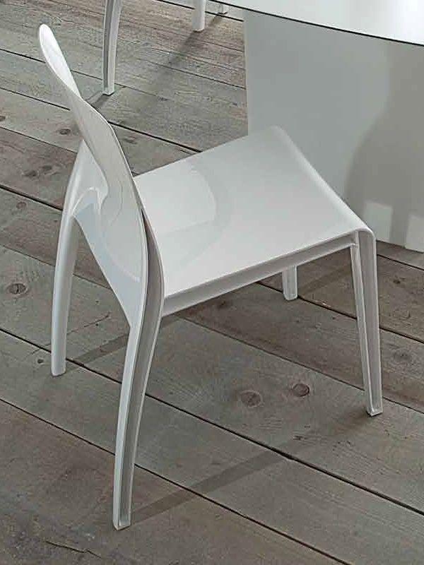 Crystal silla apilable domitalia de policarbonato - Sillas de policarbonato ...