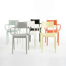 Generic A - Kartell design chair, in polyproylene, stackable, also for outdoor
