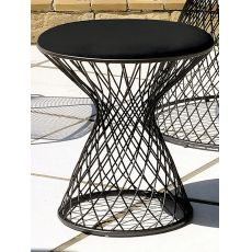 Heaven Q - Emu pouf or Emu table made of metal with glass top or pouf, height 47 cm