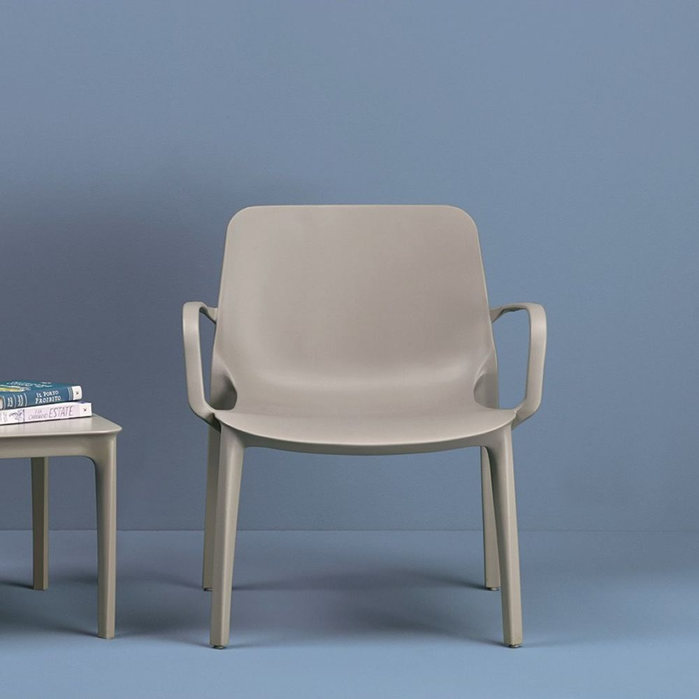 Ginevra Lounge 2351   Lounge Stuhl In Der Farbe Taubengrau