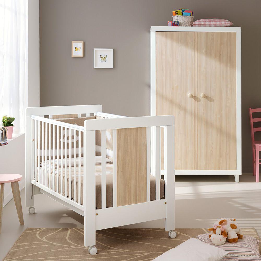 anouk s lit b b pali en bois avec tiroir sommier lattes r glable en hauteur sediarreda. Black Bedroom Furniture Sets. Home Design Ideas