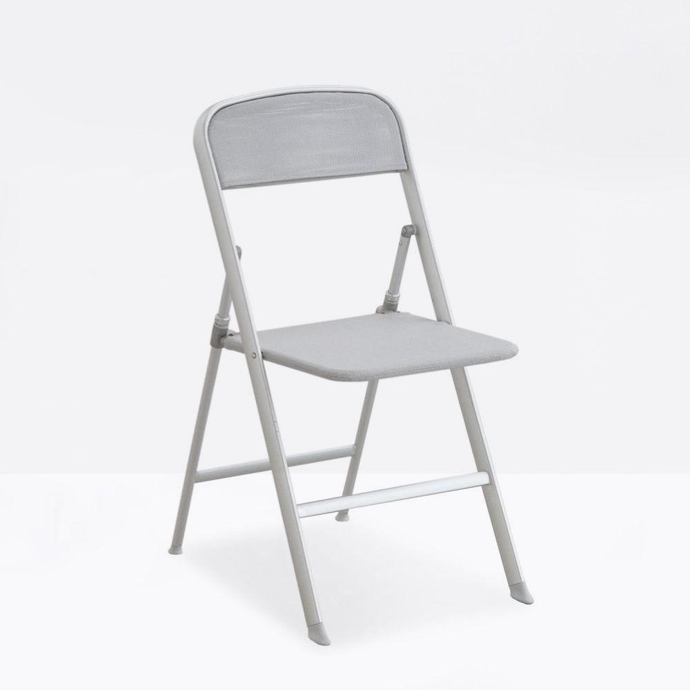 cb205 alu chaise pliante connubia calligaris en m tal et filet sediarreda. Black Bedroom Furniture Sets. Home Design Ideas