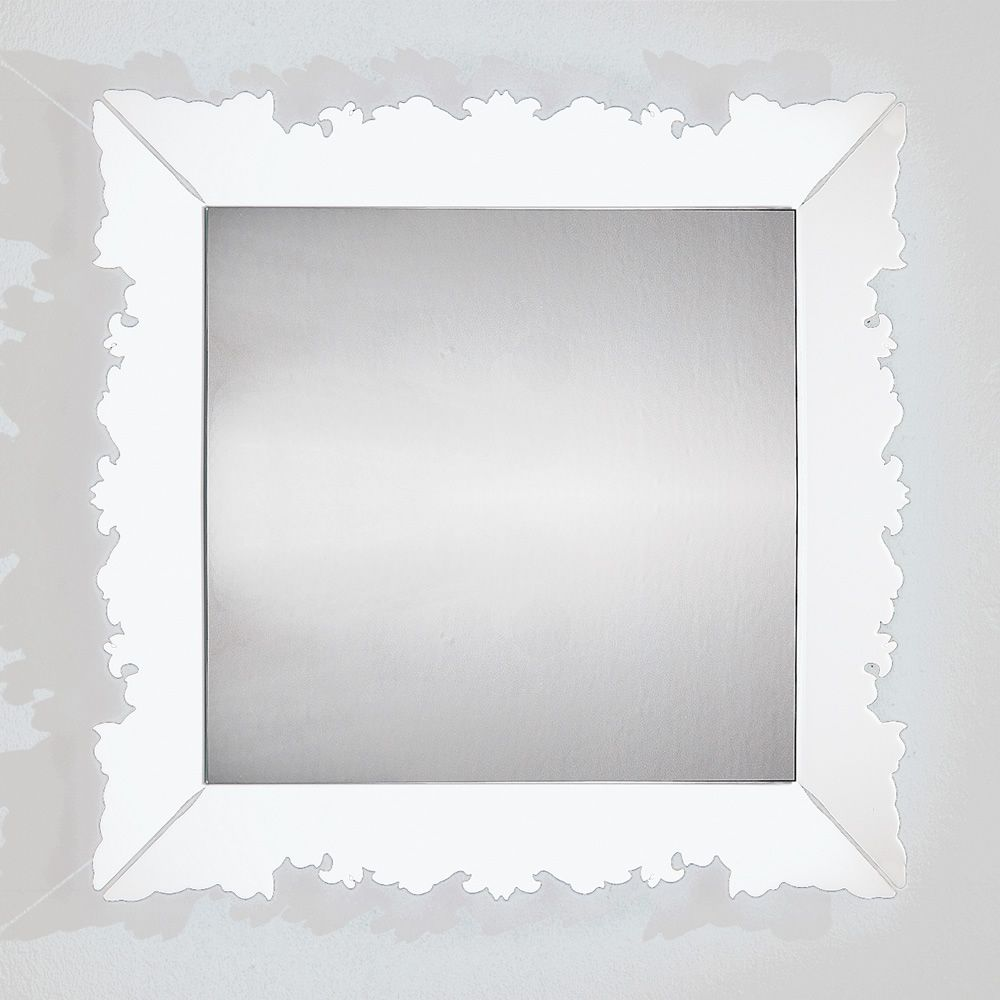 ... Novecento Q - Mirror in white methacrylate ...