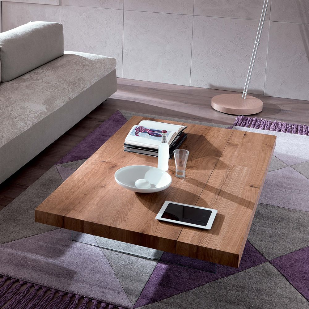Markus Two Height Transformable Coffee Table In Metal 140x90 Cm Cm Wooden Top Sediarreda