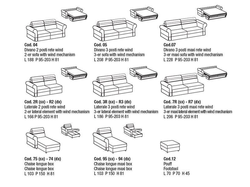 asia klassisches 2 oder 3maxi sitzer schlafsofa mit zur ckklappbarer kopfst tze sediarreda. Black Bedroom Furniture Sets. Home Design Ideas