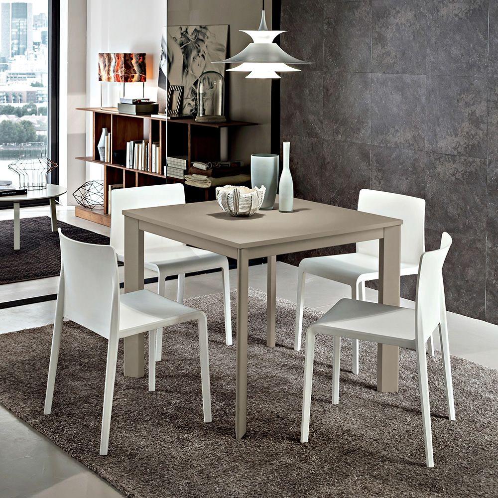 Pa115 tavolo allungabile in alluminio o legno piano for Tavolo in alluminio