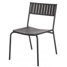 Bridge - Emu chair made of metal, for garden, in several colours, stackable