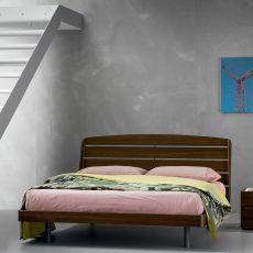 Bolero - Letto matrimoniale Dall'Agnese con struttura in legno, diverse misure e finiture disponibili