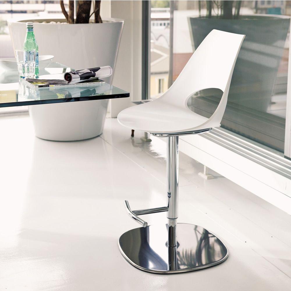 shark s tabouret de bontempi casa pivotant et r glable en hauteur en m tal avec assise en. Black Bedroom Furniture Sets. Home Design Ideas