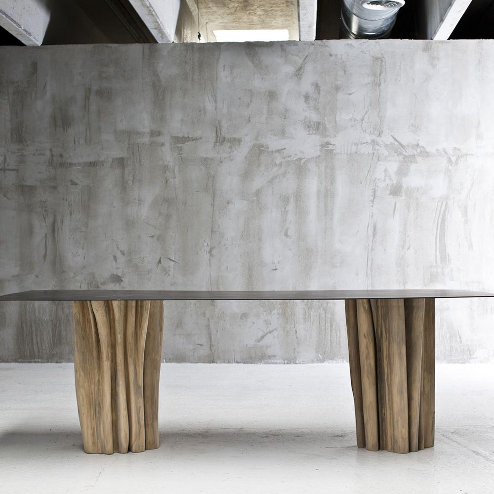 Brick 33 34 tavolo gervasoni in legno massello con - Tavolo braccio di ferro ...
