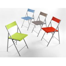 First - Folding chair in metal, available in several colours