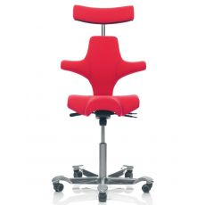 Capisco ® 8107 - Ergonomic office chair by HÅG, with saddle seat and headrest
