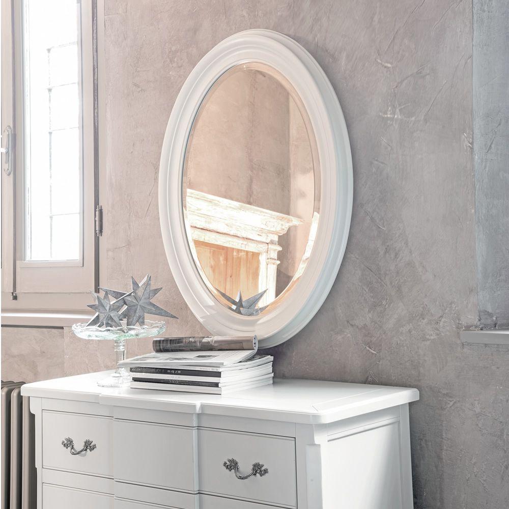 Azimut 4963 espejo valo tonin casa con marco cl sico de for Espejos con marco de madera blanco
