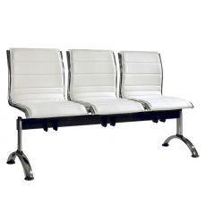 Comet Bench - Panca per sala d'attesa in metallo con sedute imbottite in tessuto o similpelle, con 2, 3 o 4 posti, diversi colori disponibili