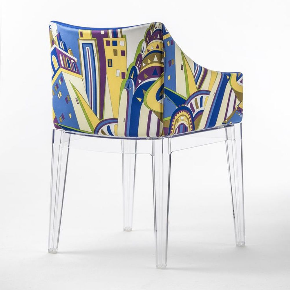 madame pucci edition kartell design armchair world of emilio  -  madame pucci edition  kartell design small armchair structure intransparent polycarbonate new york
