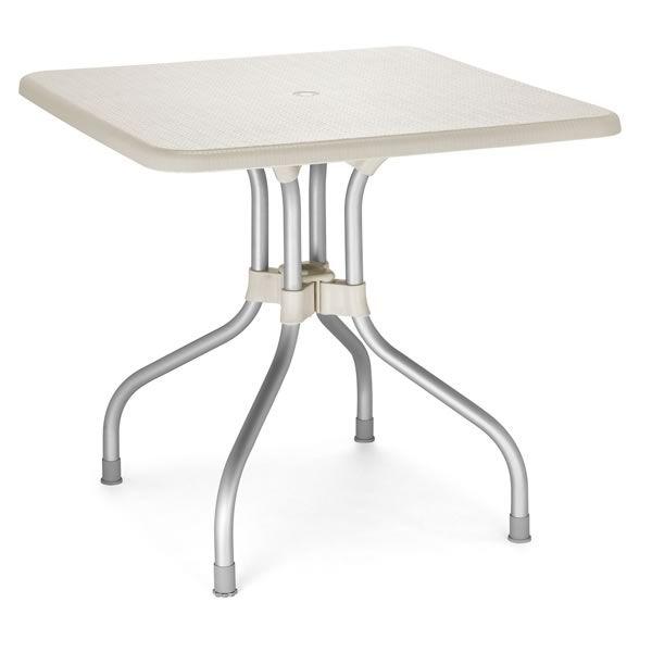 Olimpo 2197 pour bars et restaurants table pour bar en aluminium et polypro - Table metal exterieur ...