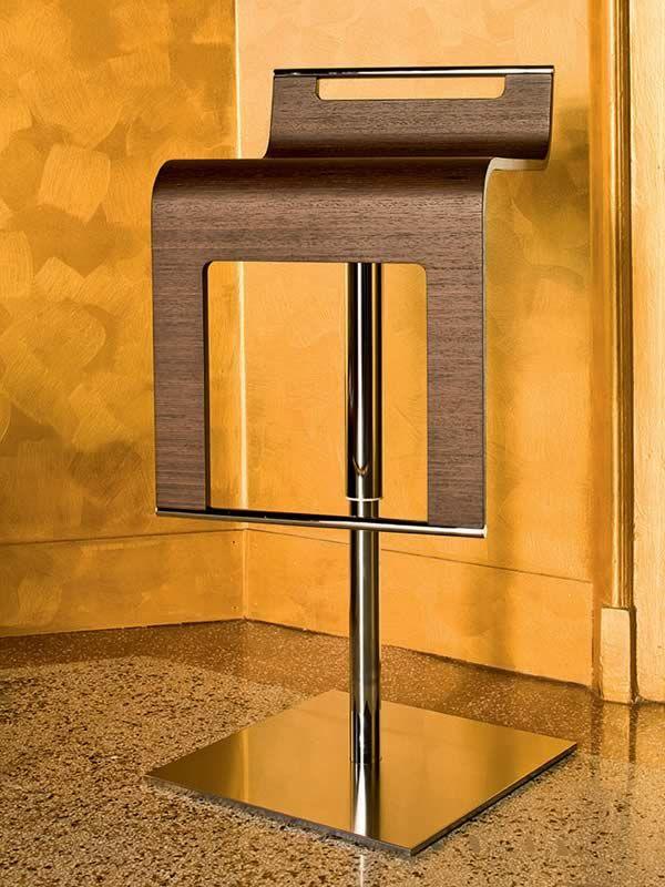 Md037h taburete en metal giratorio y regulable en altura - Taburete madera regulable ...