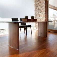 Ellisse - Tavolo di design Tonon, rettanagolare 95x180 cm, diverse finiture