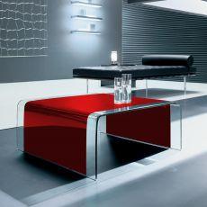 6805 - Tavolino quadrato Tonin Casa in vetro curvato