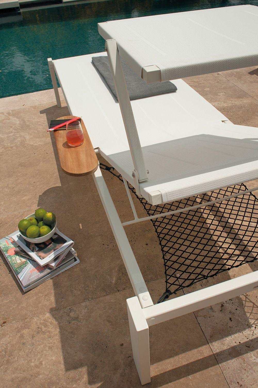 Shine L2: Emu sunbed made of metal, reclining backrest, stackable ...