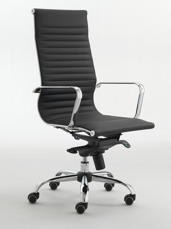 Ml558 poltrona direzionale da ufficio in similpelle o for Poltrone direzionali ufficio